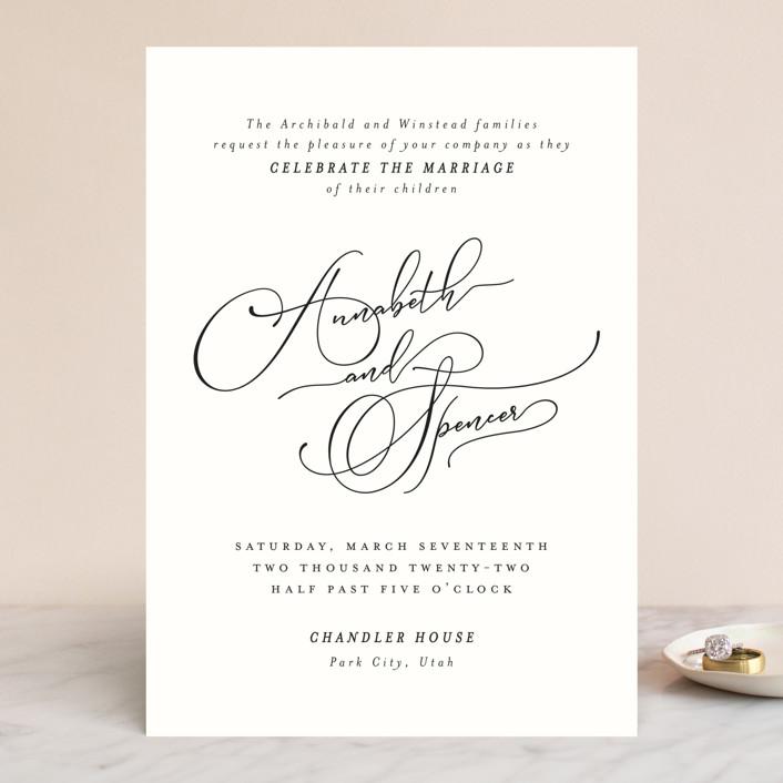 """Heirloom"" - Wedding Invitations in Ink by Kimberly Morgan."