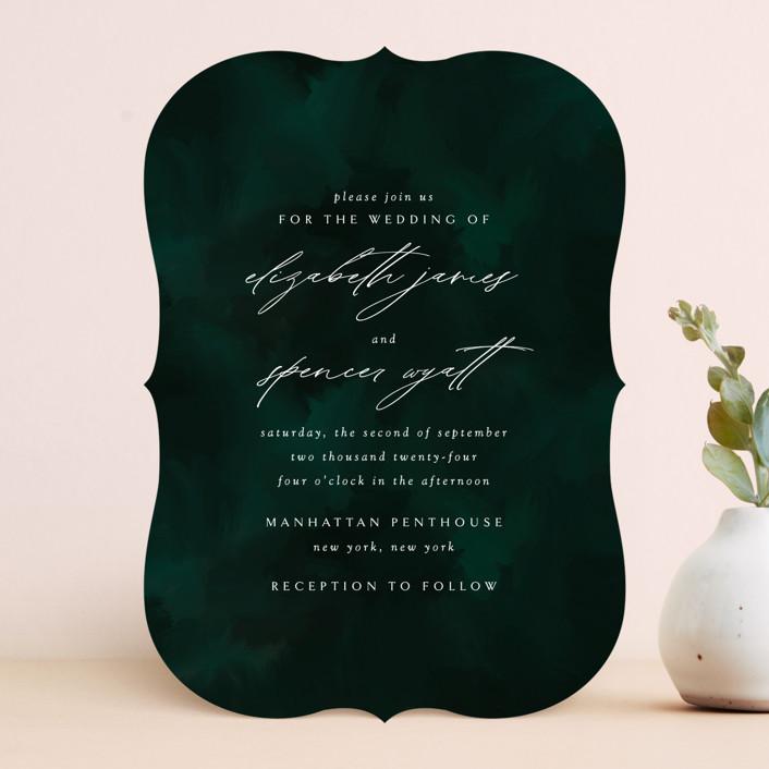 """""""emerald"""" - Wedding Invitations in Emerald by Andrea Cernin."""