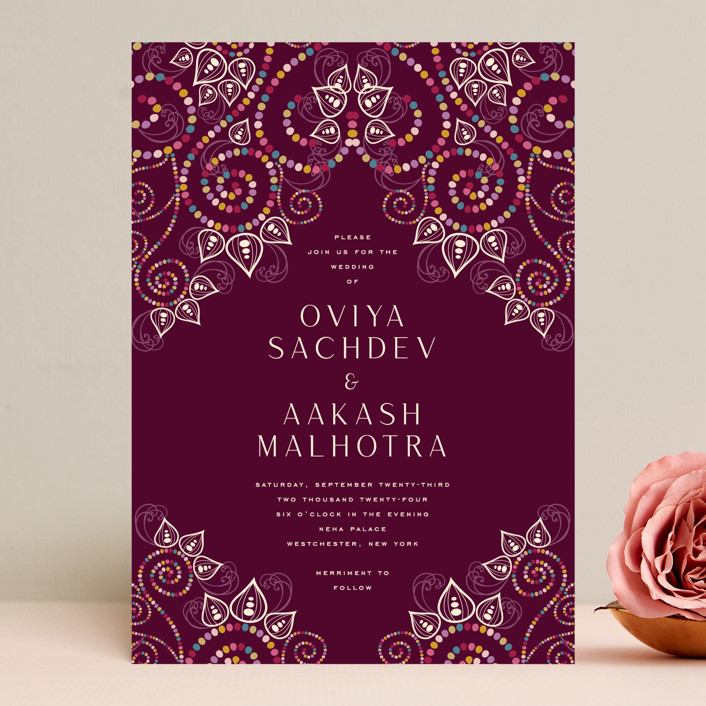"""""""Henna"""" - Wedding Invitations in Mixed Berry by fatfatin."""