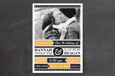 Poster Gig Wedding Invitations