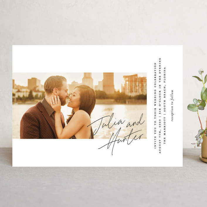 """Landscape"" - Wedding Invitations in Black Tie by Laura Hamm."