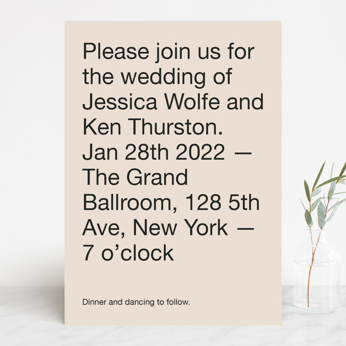 """Proposal"" - Wedding Invitations in Buff by Jack Knoebber."