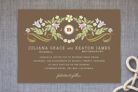 Flourishing Wedding Invitations