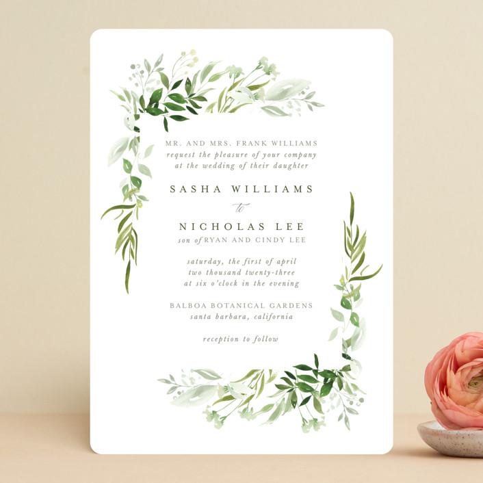 """Verdure"" - Wedding Invitations in Garden by Leah Bisch."
