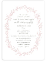 This is a pink wedding invitation by Kimberly FitzSimons called Gathered with standard printing on signature in standard.