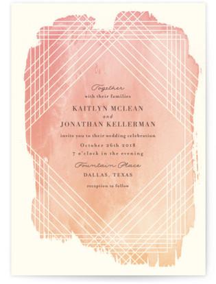 Masked Wash Wedding Invitations