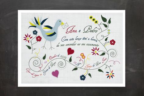 Lenço Dos Namorados Wedding Invitations