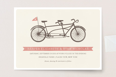 Tandem Wedding Invitations