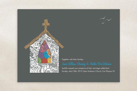 Quiet Chapel Wedding Invitations