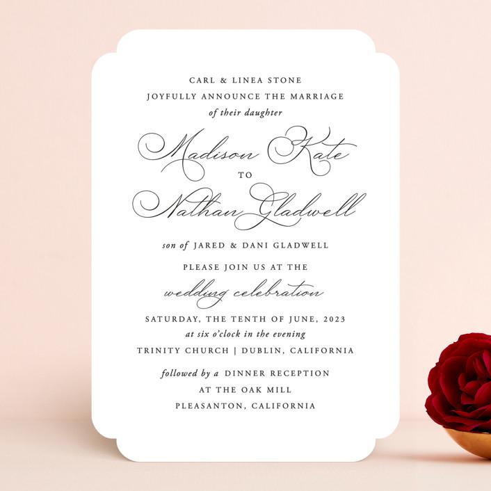 """Organza"" - Wedding Invitations in Linen by Jill Means."
