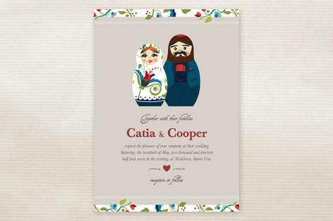 Russian Nesting Dolls Wedding Invitations