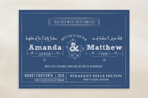 Blueprint wedding invitations by sarah guse brown minted blueprint wedding invitations malvernweather Gallery