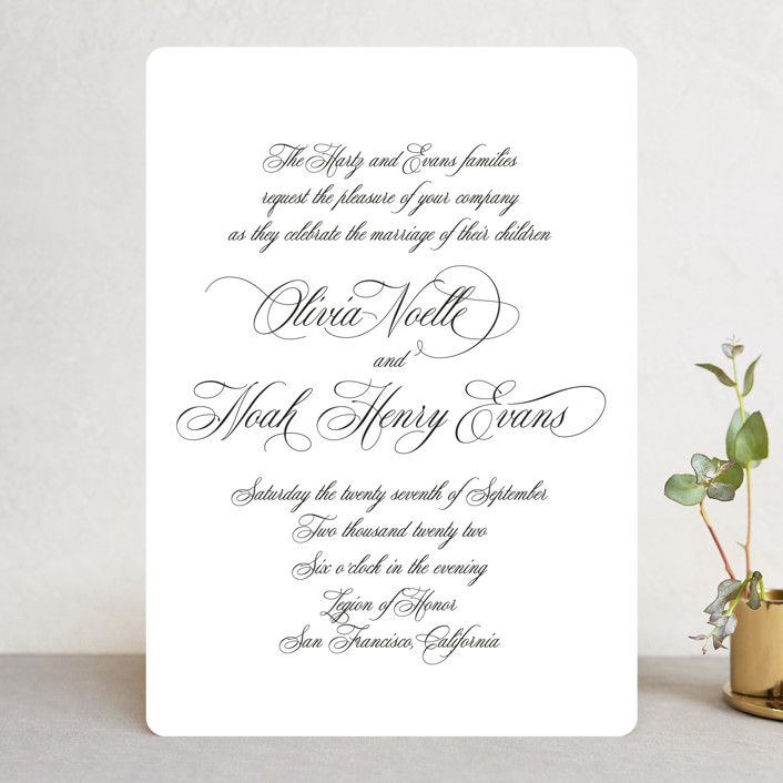 """""""Legacy"""" - Wedding Invitations in Pure by Design Lotus."""