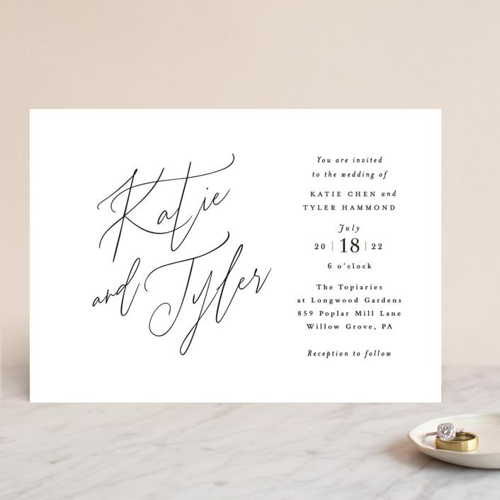"""Tallulah"" - Wedding Invitations in Linen by Jennifer Wick."