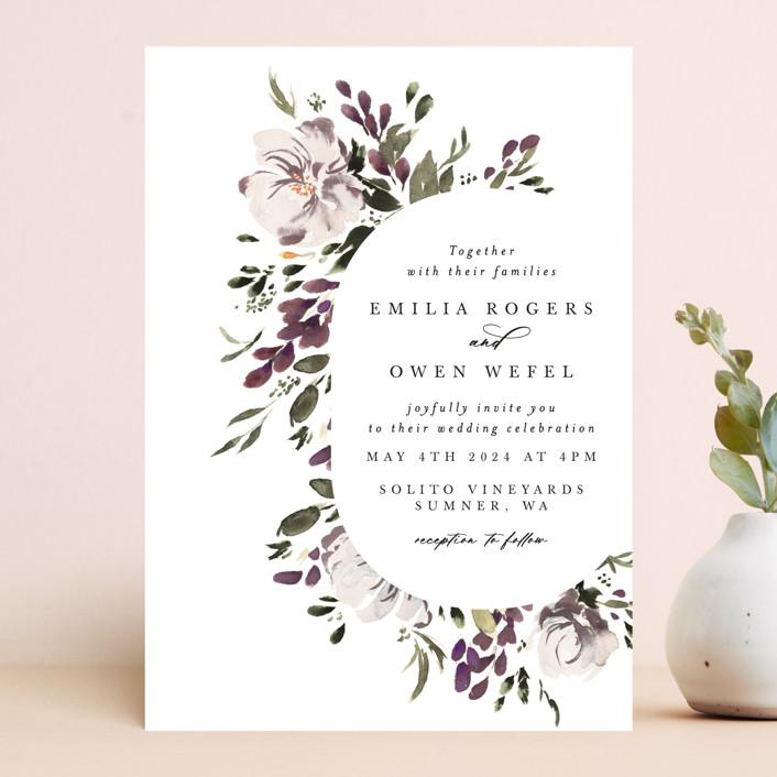 """iliya"" - Wedding Invitations in Bordeaux by Itsy Belle Studio."