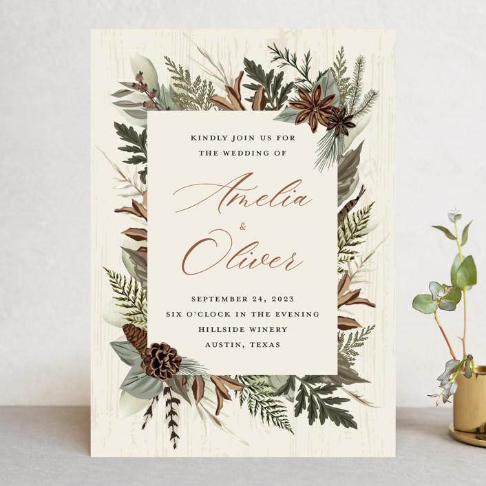 """""""Woodland Garden"""" - Wedding Invitations in Birch by Susan Moyal."""