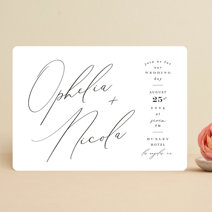 """""""Us"""" - Wedding Invitations in Tuxedo by Leah Bisch."""