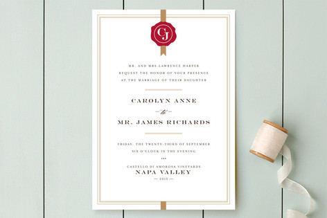 Sealed w/ Love Wedding Invitations