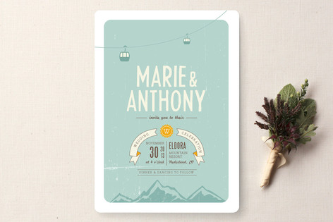 mountain wonderland wedding invitations by jana vo | minted, Wedding invitations