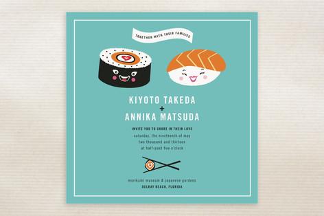 Sushi Love Wedding Invitations