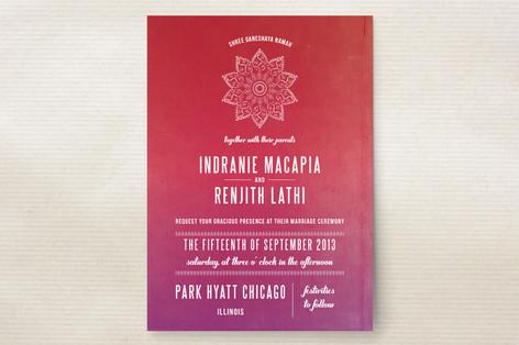 Indian Love Wedding Invitations