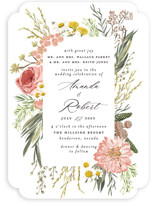 This is a pink wedding invitation by Susan Moyal called Organic Florals with standard printing on signature in standard.