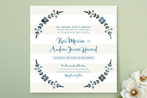 Flower Frame Wedding Invitations