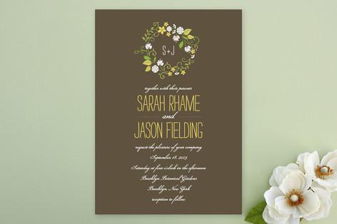 A Bloomin' Wreath Wedding Invitations