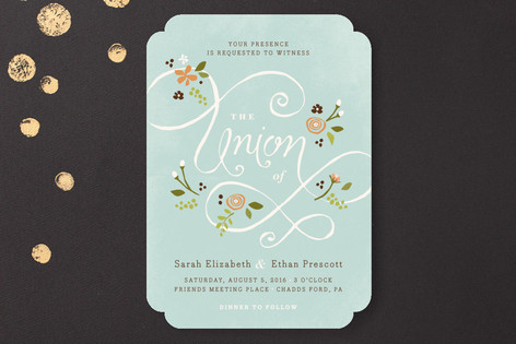A More Perfect Union Wedding Invitations