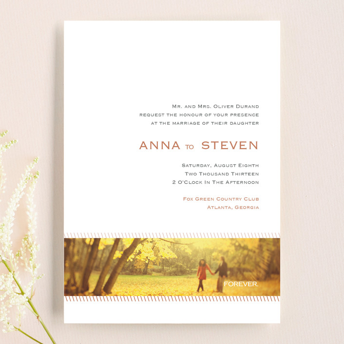"""Forever Panoramic"" - Simple, Modern Wedding Invitations in Mocha by Stacey Meacham."