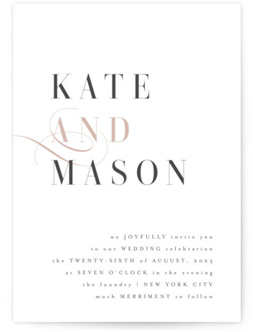 This is a pink wedding invitation by Kristie Kern called Foundry with standard printing on signature in standard.