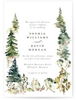 This is a green wedding invitation by Petra Kern called Great Outdoors with standard printing on signature in standard.
