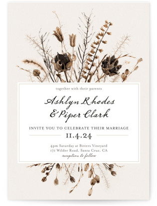 photo of Gone To Seed Wedding Invitations