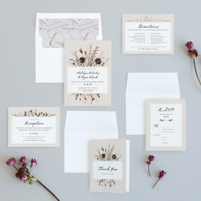 Gone To Seed Wedding Invitations by Honeybunch Studio | Minted