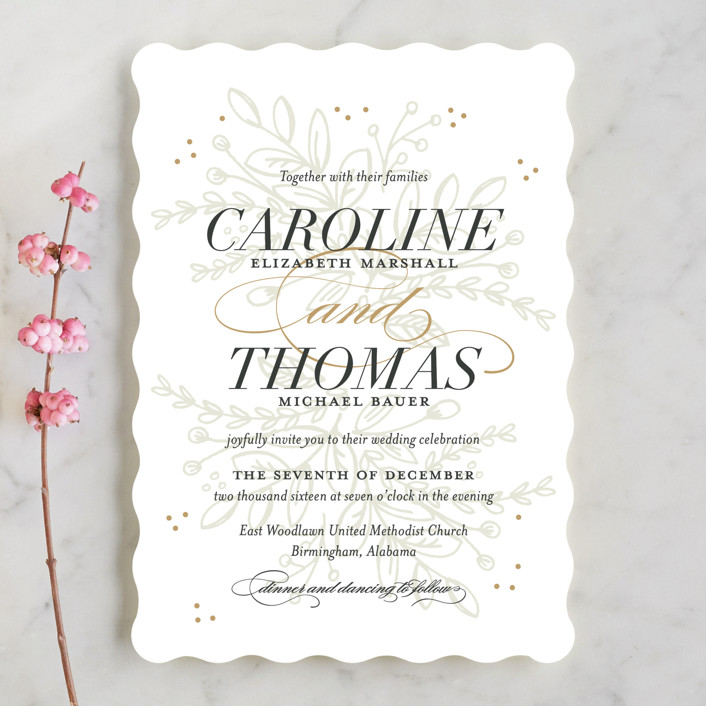 """Graceful"" - Rustic Wedding Invitations in Taupe by Jessica Williams."