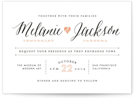 photo of Heartbeat Wedding Invitations