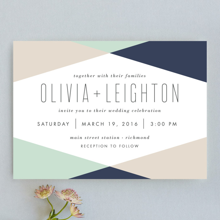 Minimal Mod Wedding Invitations By Carly Reed Walker