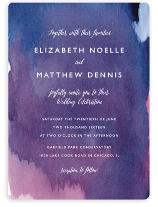 mulberry wedding invitations by lindsay megahed - Watercolor Wedding Invitations