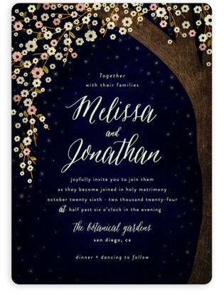 Starry Night Wedding Invitations Minted