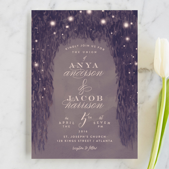 Paris Garden Wedding Invitations By Lori Wemple Minted