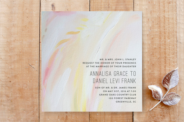 Peach Strokes Wedding Invitations By Emily Jeffords | Minted