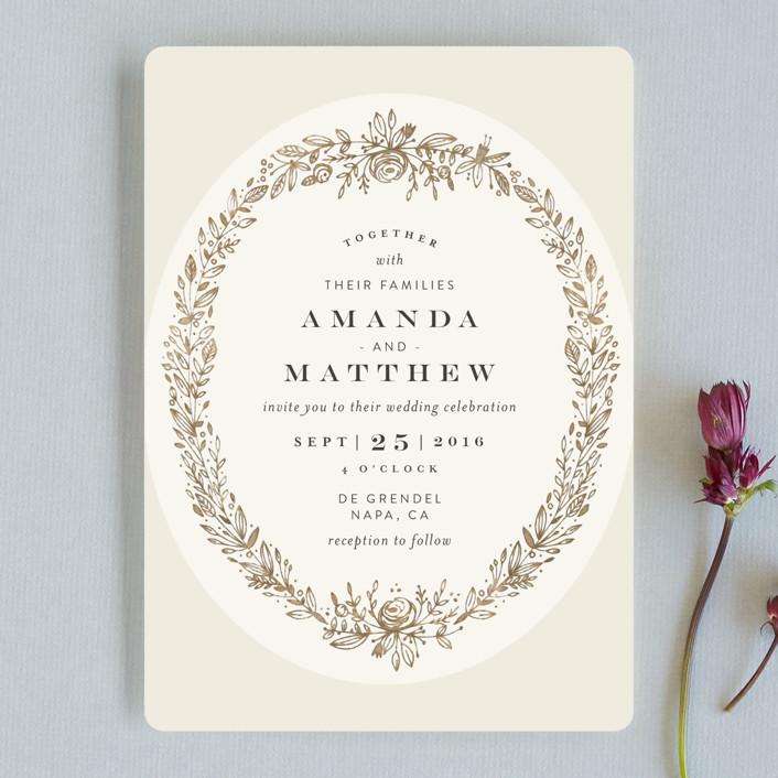 Prettiest Wreath Wedding Invitations By Phrosne Ras