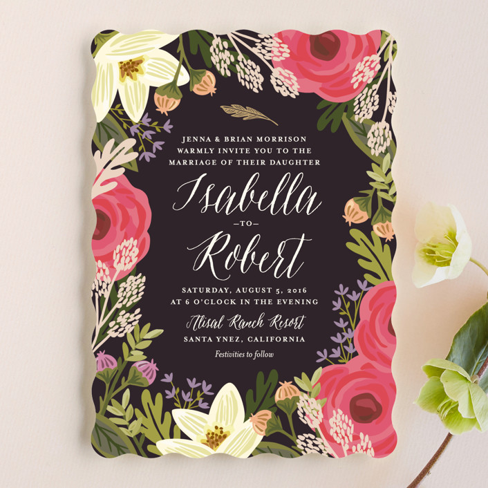 """""""Rhapsody"""" - Wedding Invitations in Peony by Griffinbell Paper Co.."""