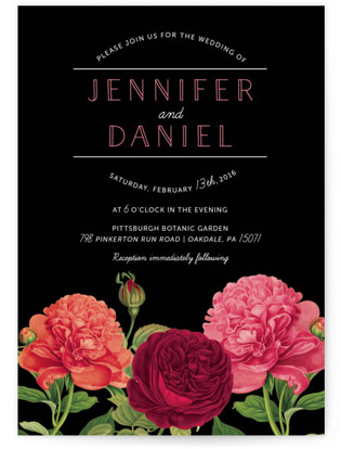 Romantic Botanic Wedding Invitations
