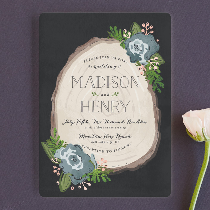 Rustic Wooded Romance Wedding Invitations by Pistols – Rustic Romantic Wedding Invitations
