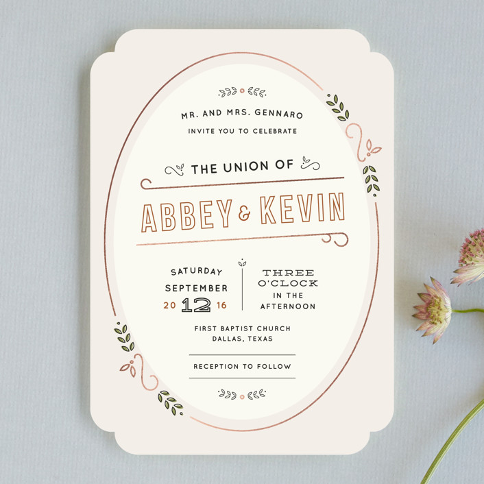 """""""The Union"""" - Rustic Wedding Invitations in Sand by Dana Beckwith."""