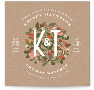 Waverly Florals Wedding Invitations