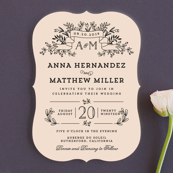 """Wedding Bouquet"" - Rustic Wedding Invitations in Petal by Chris Griffith."