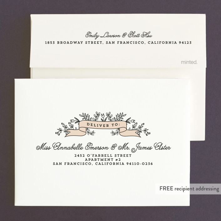 Wedding bouquet wedding invitations by chris griffith minted envelope design stopboris Image collections