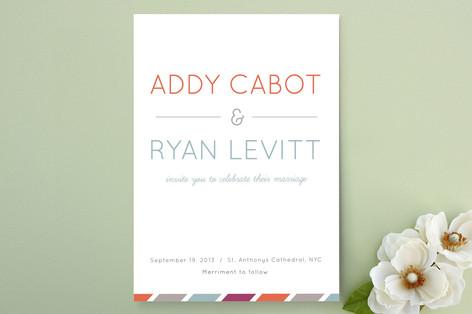 Fruit Stripes Wedding Invitations